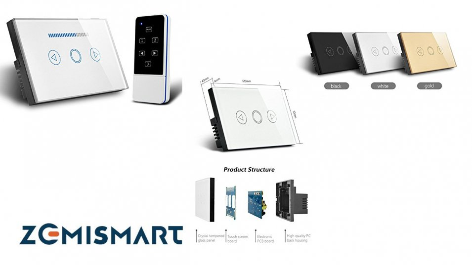 Wall Switch RF 433 MHz con funzione DIMMER - by Zemismart