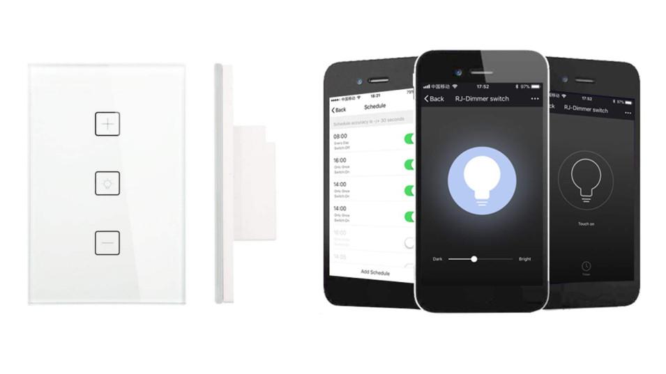Wall Switch Soft Touch WiFi per controllo luci con funzione dimmer