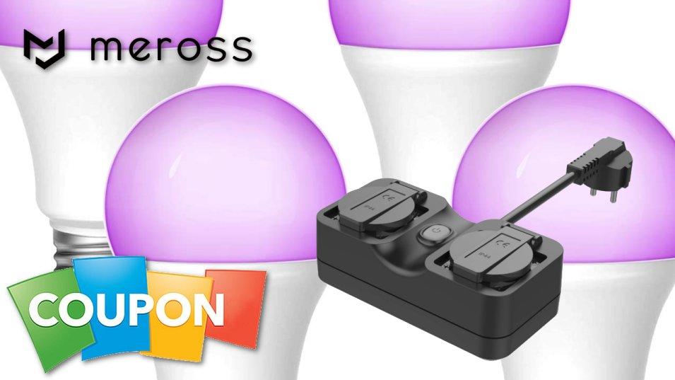 Codici Sconto da Meross per Smart Switch e Lampadine RGB WiFi