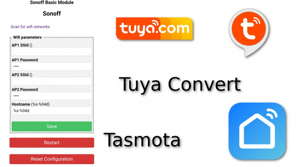 Tasmota su dispositivi Tuya Over The Air grazie a Tuya Convert