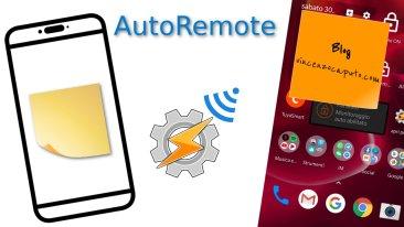 Mille modi per usare AutoRemote - Realizziamo una Post-it chat con Tasker