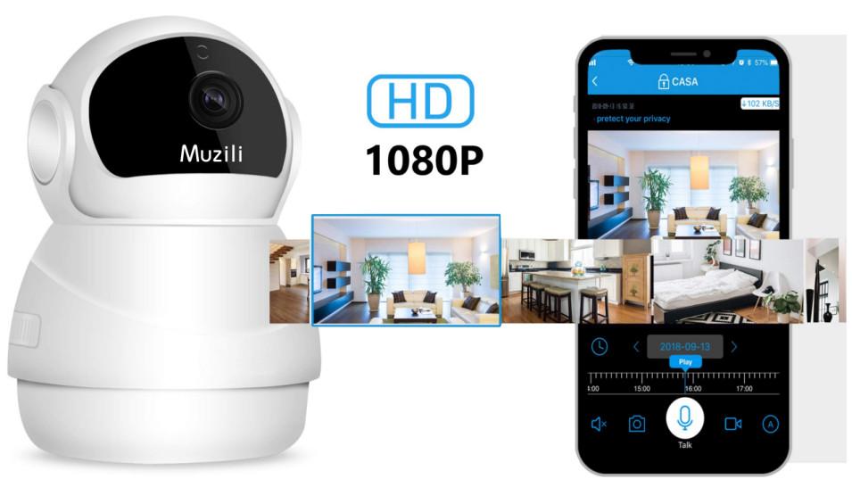 Recensione Muzili IP Cam di sorveglianza motorizzata da interni