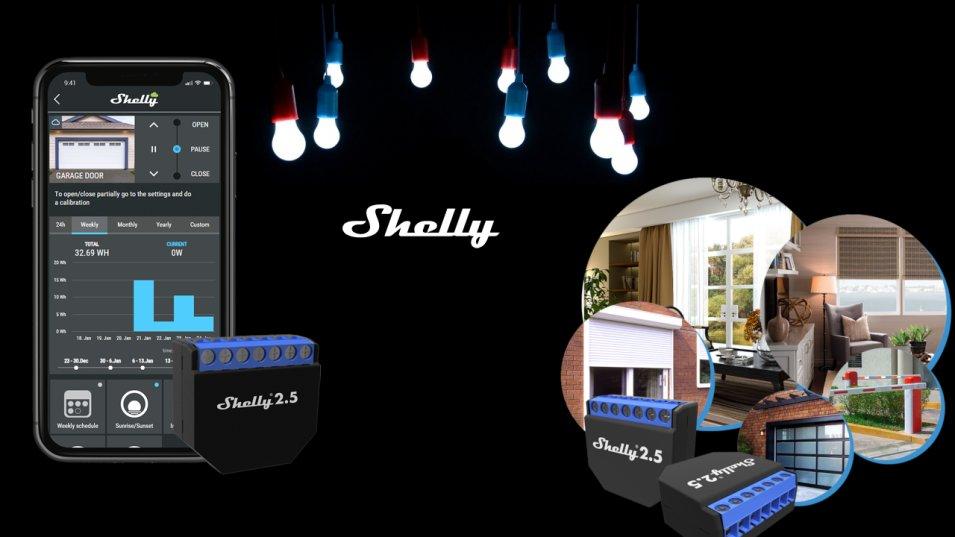 Come usare lo Shelly 2.5 per gestire due punti luce