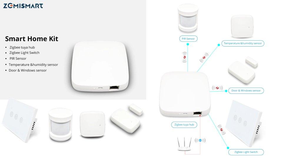 Recensione Tuya ZigBee Hub + Kit sensori PIR, portafinestra e temperatura