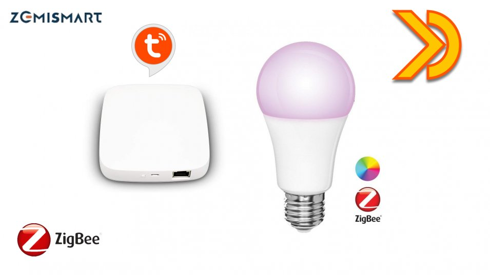 Lampadina E27 RGB ZigBee by Zemismart Tuya Smart compatibile