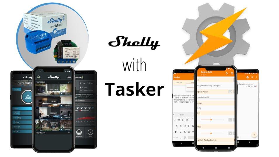 Come gestire lo Shelly 1 direttamente da Tasker