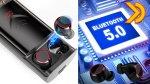 Arbily T9 TWS Auricolari Bluetooth 5.0 con Power Bank 6000mHA