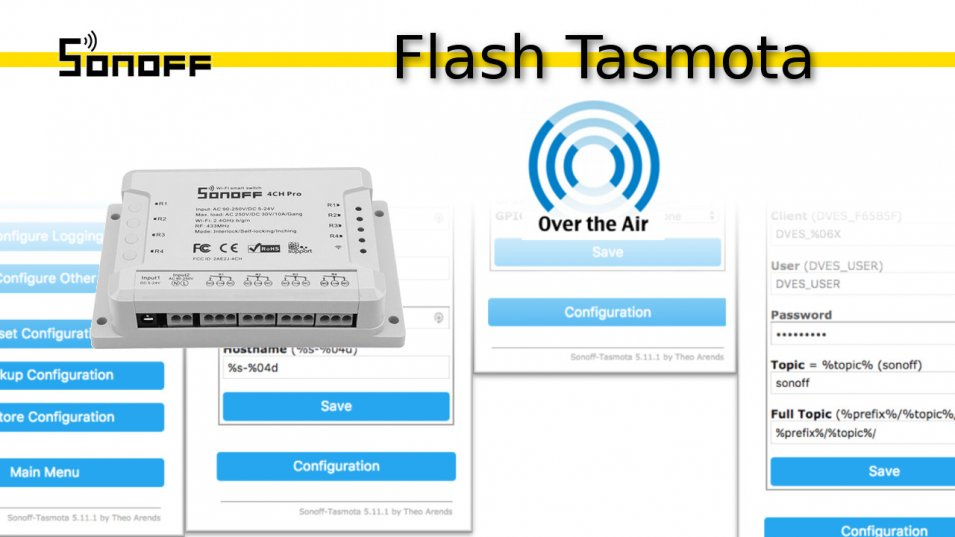 Sonoff CH4 pro - flash firmware Tasmota Over The Air