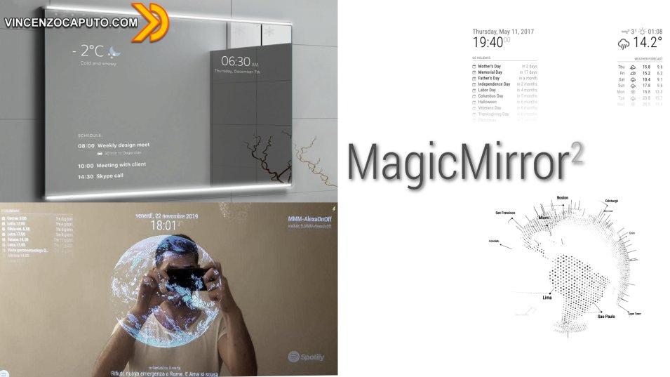 MAGIC MIRROR Uno specchio smart con effetto WOW - Prima installazione