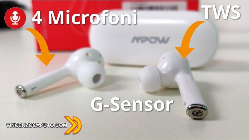 MPOW M10 - gli Auricolari Bluetooth che scimmiottano gli AirPods PRO!