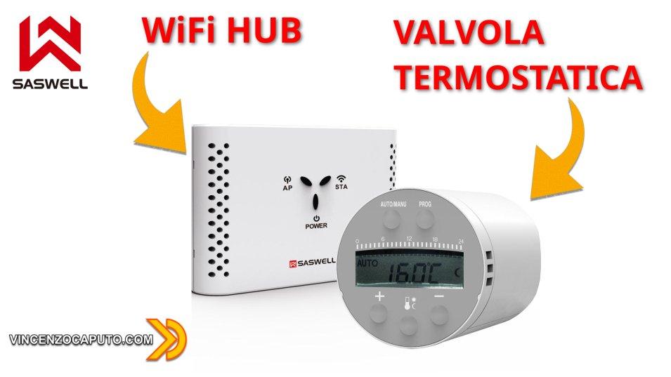 Valvola Termostatica Saswell con HUB Zigbee compatibile con Home Assistant