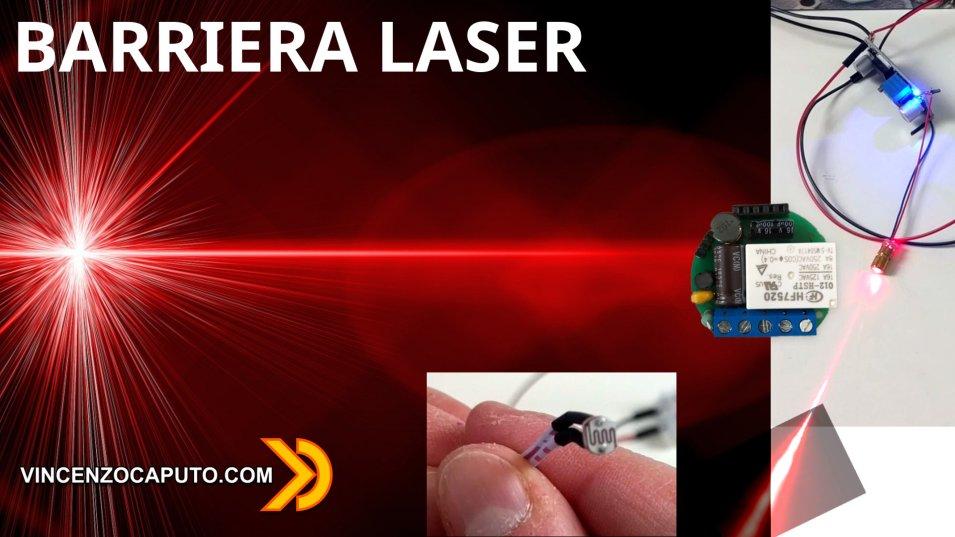 Barriera Laser DIY - ulteriori test ed evoluzioni sempre con Shelly 1