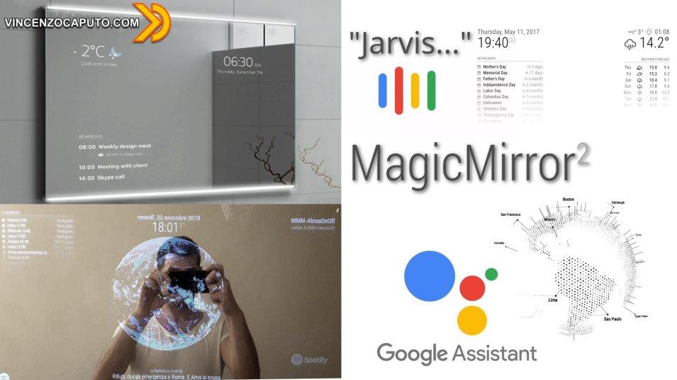 Google Assistant su Magic Mirror con hotword personalizzata