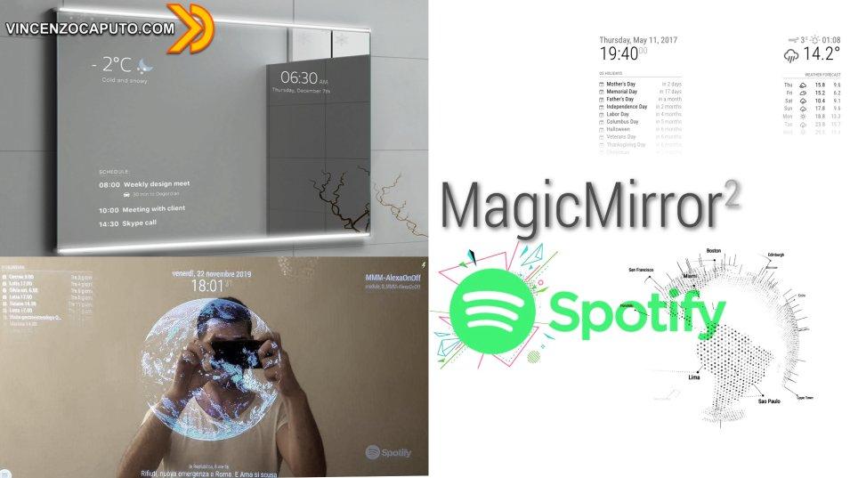 Magic Mirror - Come aggiungere il modulo Spotify