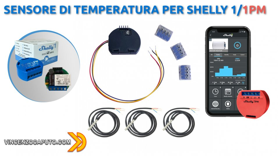 Sensore di temperatura per Shelly 1-1PM - Integrazione in Home Assistant
