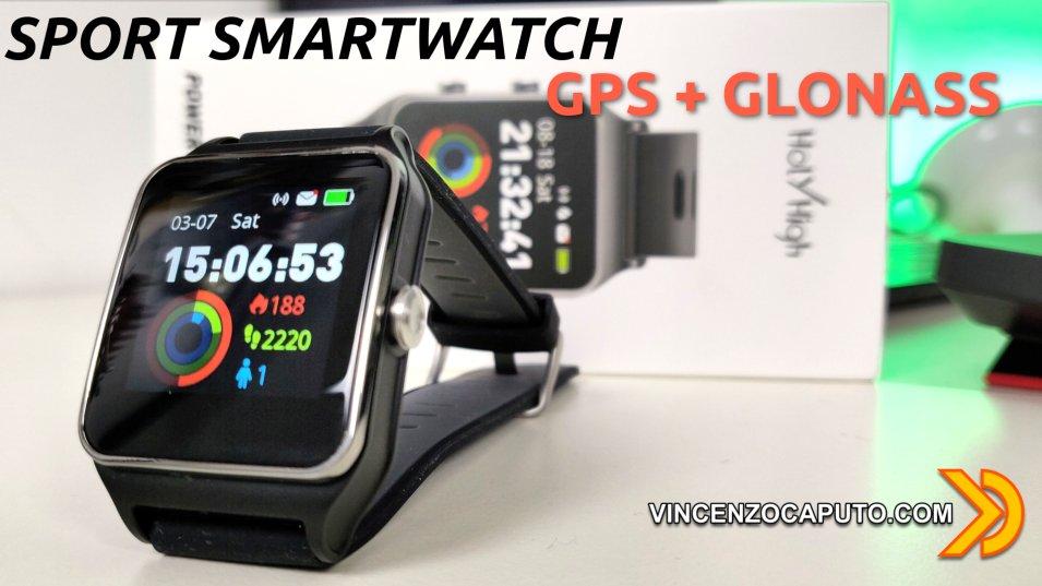 HolyHigh SmartWatch P1C, l'orologio sportivo con GPS + GLONASS integrati