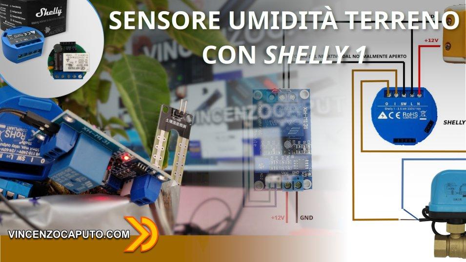 Shelly1 come sensore di umidità terreno Smart