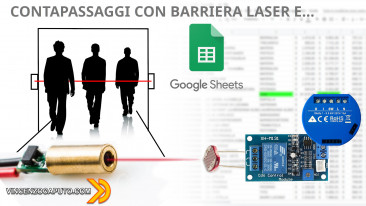 Conta passaggi con una Barriera Laser, Shelly 1 e Google Sheet