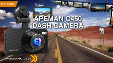 Apeman C450 - Dash Camera Full HD con G-sensor