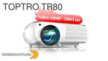 Recensione TOPTRO TR80 - il video proiettore Full HD con 7000 lumens