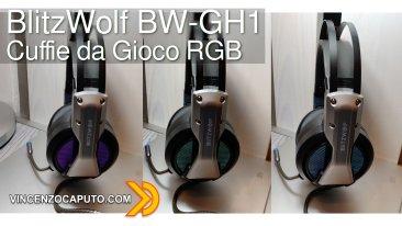 BlitzWolf BW-GH1 le cuffie gaming con effetto LED RGB