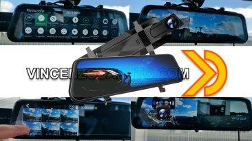 Specchietto retrovisore smart VanTop H610 - Dash cam anteriore e posteriore