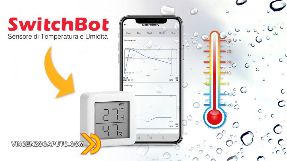 SwitchBot MeterTH S1 - Sensore di Temperatura e Umidità Smart