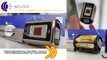 WE.LOCK Serratura Smart con impronta digitale e Bluetooth