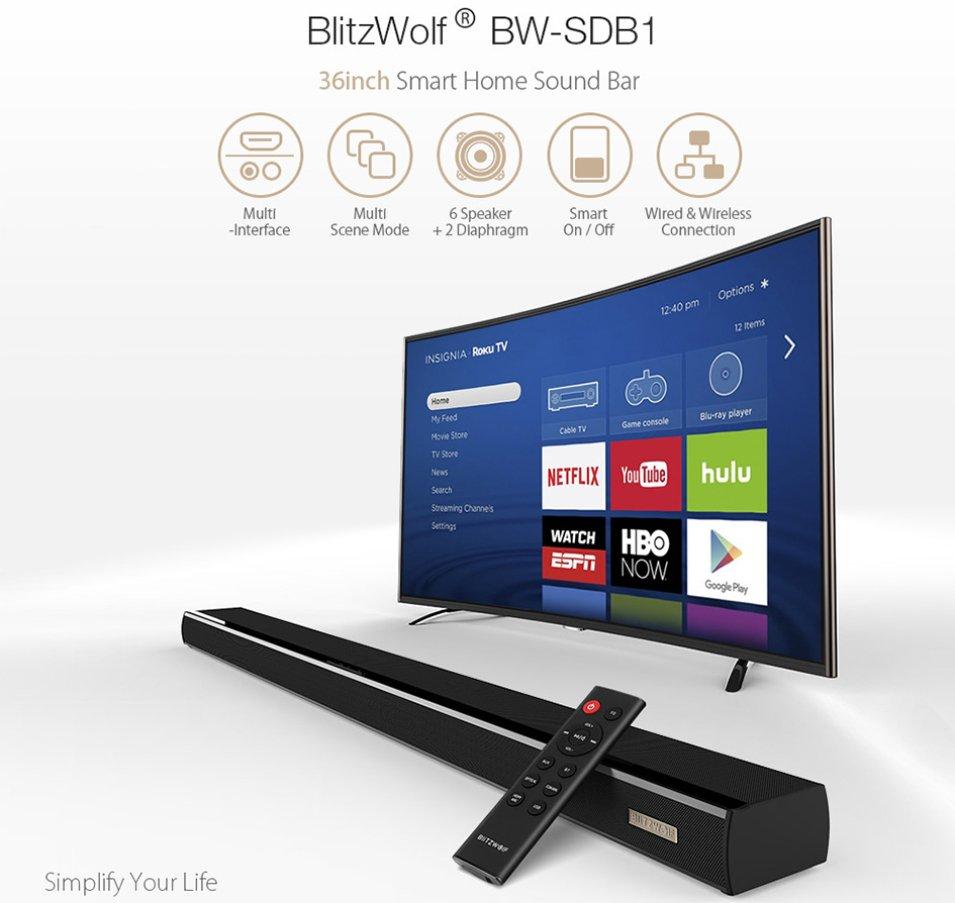 Soundbar BlitzWolf BW-SDB1 60W - La Mia Prova