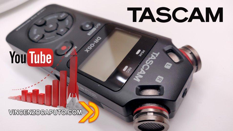 Tascam DR-05X Il Registratore Audio Professionale per aspiranti Youtuber