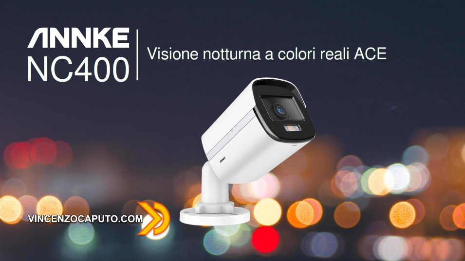 Annke NC400 - Bullet camera ONVIF, 4 Megapixel, PoE and True Night Vision