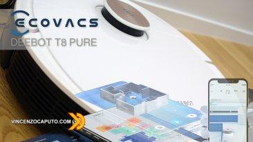 Ecovacs Deebot Ozmo T8 PURE con sensore laser D-ToF