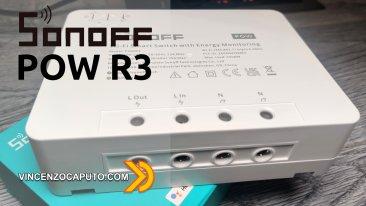Recensione Sonoff POW R3 Power Monitoring
