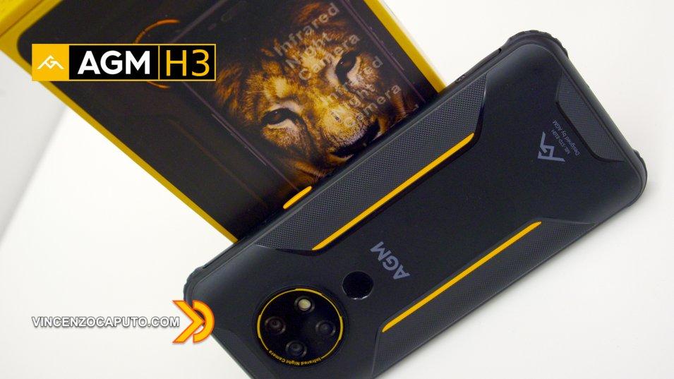 AGM H3 - il Rugged Smartphone con visione notturna ad infrarossi