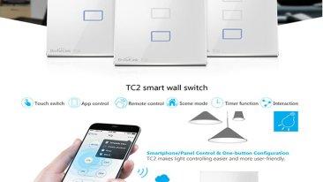 Interruttore Smart BroadLink TC2 in azione con Tasker