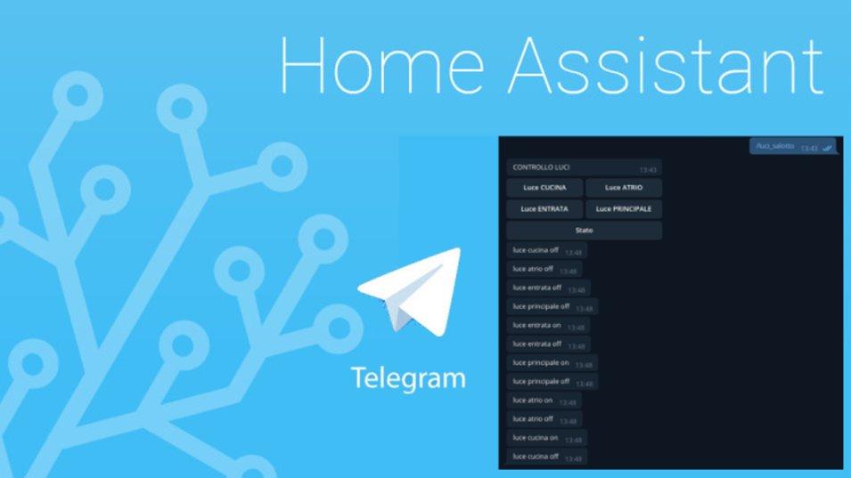 Casa domotica con Telegram e Home Assistant