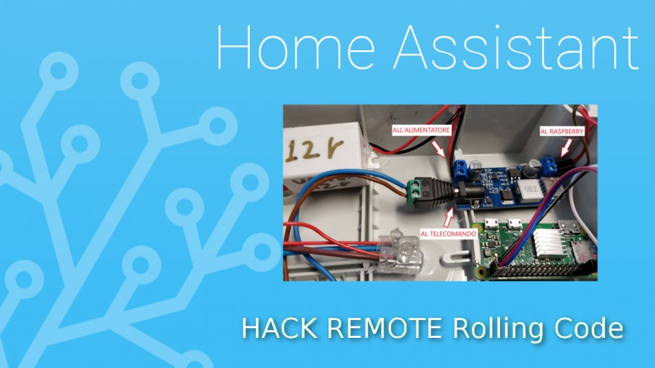 Come hackerare un telecomando RF Rolling code con Raspberry o NodeMCU